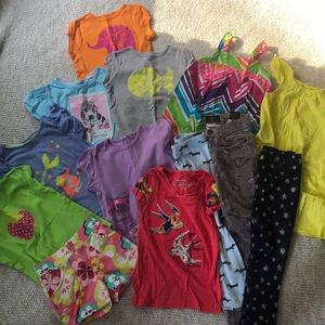Lot of girls clothes, 5T, Carter's, h&m